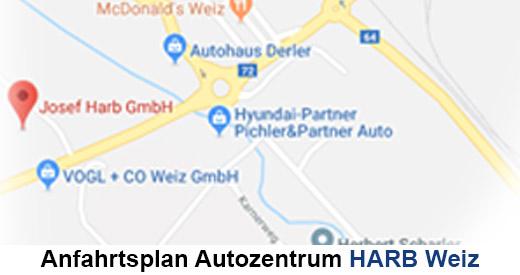 Standort autozentrum harb weiz autozentrum harb for Autohaus harb weiz